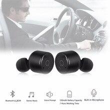все цены на Wireless Bluetooth 4.2 Stereo Car Earbuds Earphone Mini Bluetooth Headset earphone With Mic for Android phone онлайн
