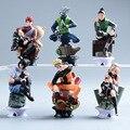 6 Unids/set Uzumaki Naruto Figura de Acción Del Anime Pvc 8 cm Fresco Hinata Madara Kakashi Figura Juguetes Clásicos para Niños o Colección WL040