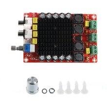 Dc 14 34 v tda7498 2x100 w classe d placa de amplificador de potência de áudio amplificador de áudio digital duplo para o orador ativo do cinema em casa