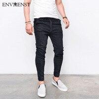 2017 Envmenst Fashion Men S Harem Jeans Washed Feet Shinny Denim Pants Hip Hop Sportswear Elastic
