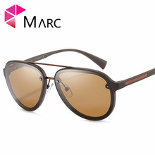 MARC 2019 Pilot Fashion Men Sunglasses Driving Polarized Trend Glasses TR90 Classic Solid High quality Eyewear UV400 1
