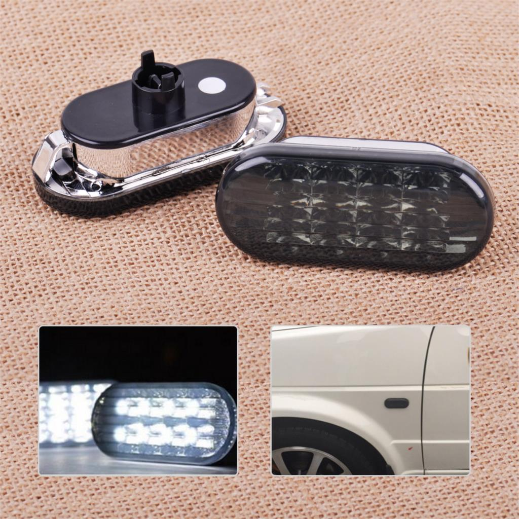 CITALL 2PCS White / Yellow Light Side LED Marker Light Lamp Indicator For VW Golf Jetta Bora MK4 Passat B5/B5.5 1999 - 2003 2004 jeazea glove box light storage compartment lamp 1j0947301 1j0 947 301 for vw jetta golf bora octavia 2000 2001 2002 2003 2004