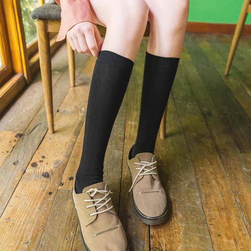 CHAOZHU jesień zima wielu-kolory japońskie liceum dziewczyny luźne skarpety długie ocieplacz na nogi moda jednolite spódnica skarpetki