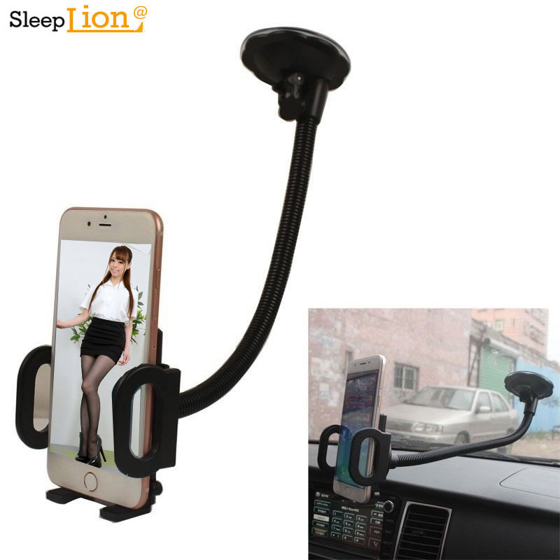 Sleeplion Car/Truck Windshield 30CM Long Arm Phone/Mobile/GPS Mount+Universal Holder Stand For Iphone 8 7 7S 6 6S 4.7 5.5