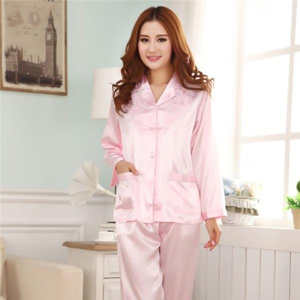 Aliexpress.com : Buy Long Sleeve Silk pijamas feminino Pretty ...