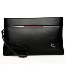 ff588d9293c5 YUES кенгуру бренд мужской клатч из искусственной кожи большой емкости  Мягкий кожаный повседневный конверт кошельки Молодежный