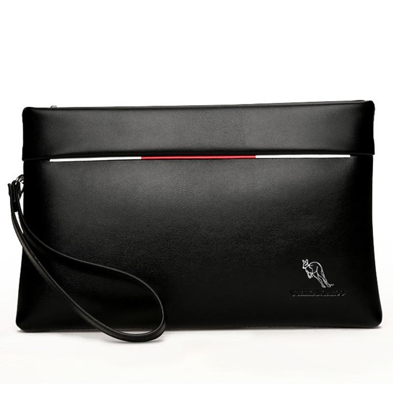 YUES KANGAROO brändi mehed sidurikott PU nahk suur mahutavusega pehme nahk vabaaja ümbrik rahakotid noorte mobiiltelefoni käepärane rahakott