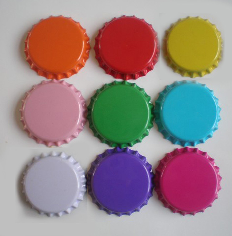 ᐂAmbos lados coloreó tapas corona bottle CAPS metal cerveza para ...