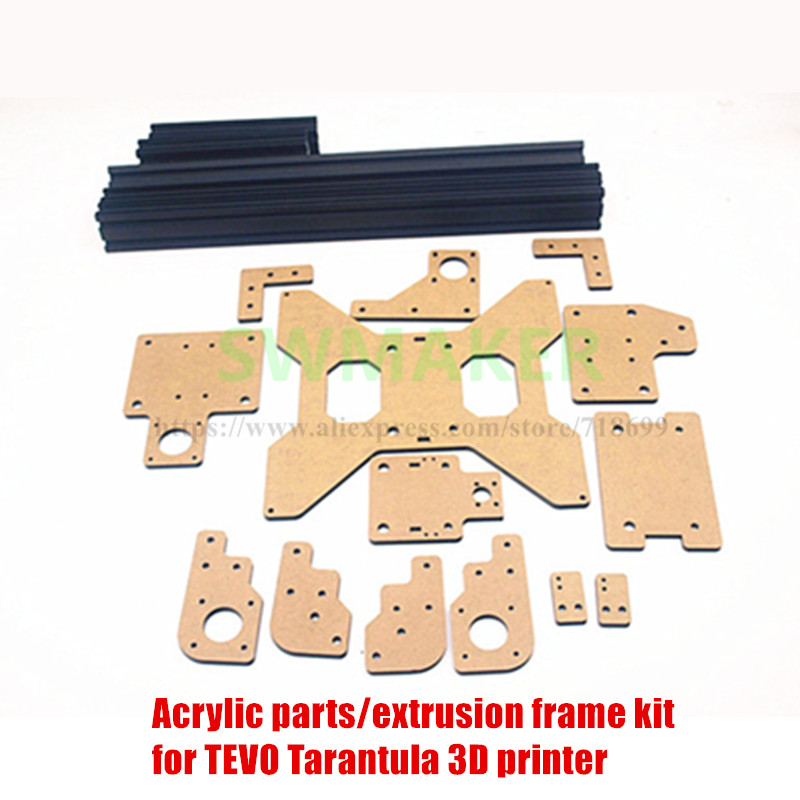 SWMAKER acrylic parts & extrusion frame kit for TEVO Tarantula 3D printer part Laser cut parts for Tevo Tarantula цена