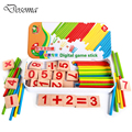 Wooden Counting Sticks Iron Box Education Toys Kids Digital Game Stick Pencil Case Building Intelligence Digital Blocks Toy Gift