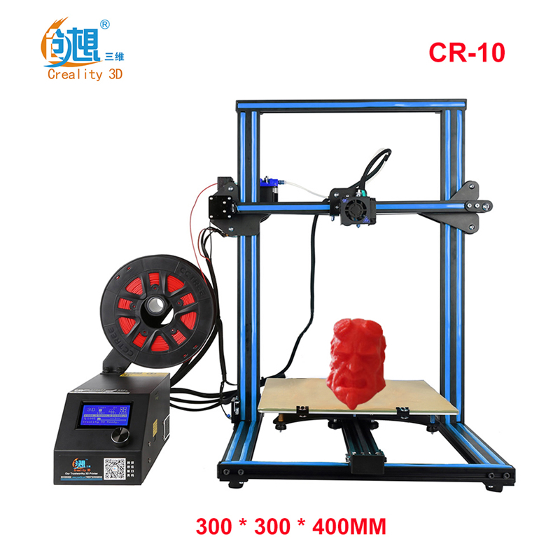 Creality 3D CR-10 3D Printer Large Prusa I3 DIY Kit Large DIY Desktop 3D Printer DIY Education CR-10 Series metal frame linear guide rail for xzy axix high quality precision prusa i3 plus creality 3d cr 10 400 400 3d printer diy kit