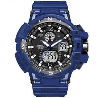 SMAEL Brand Waterproof Watch Men Montre Sport LED Digital Electronic Quartz Watch Dual Display Watches Relogio