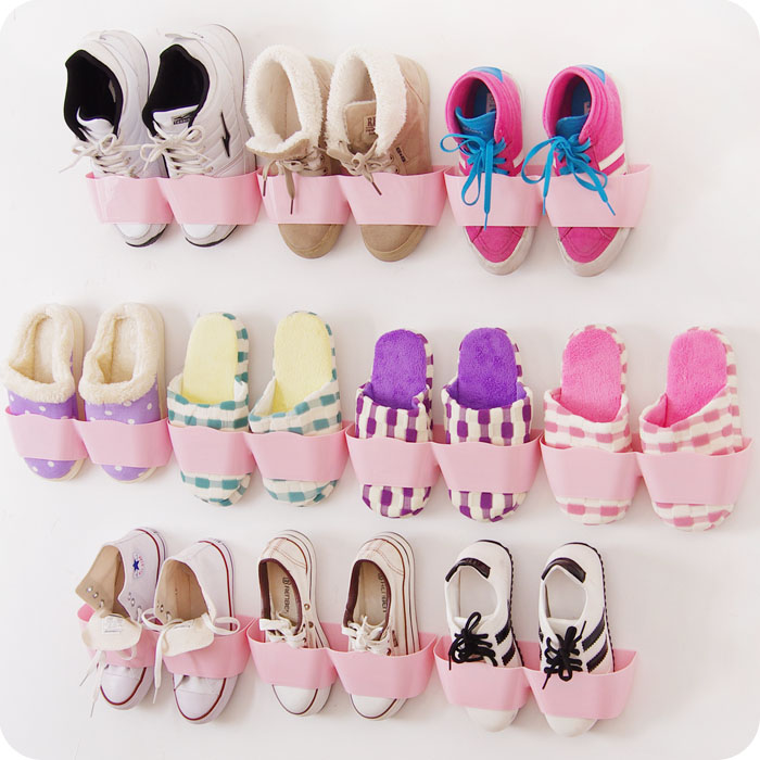 Diy Shoe Rack Stereo Bathroom Rack New Plastic Shoe Shelf Stand Cabinet Display Shelf Organizer Wall Rack