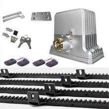 heavy duty 3600lbs 1800kg automatic electric sliding gate motor opener 4 keyfobs 4m nylon racks(sensor lamp keypad GSM optional)