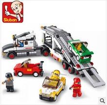 Sluban mannequin constructing kits suitable with lego metropolis vehicle 407 3D blocks Educational mannequin & constructing toys hobbies for kids