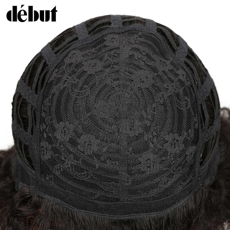 Дебюта короткие парики из натуральных волос афро парик из бразильских курчавых, дешевые парики из натуральных волос с Африканской структурой, Цвет P4/30 короткие парики для чернокожих Для женщин Бесплатная доставка