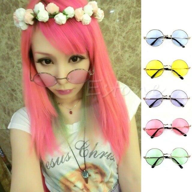 62c7ee3b2 Mulheres óculos de Sol de Lentes de Óculos de Plástico Óculos de Armação  Óculos Retro Rodada