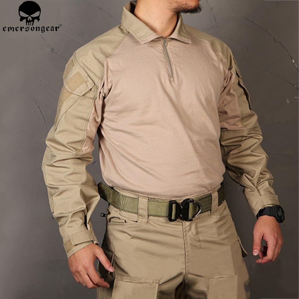 EMERSONGEAR Multicam Combat Shirt Jagd Kleidung G3 BDU Airsoft Tactical emerson Armee Military Wargame Multicam Schwarz Hemd