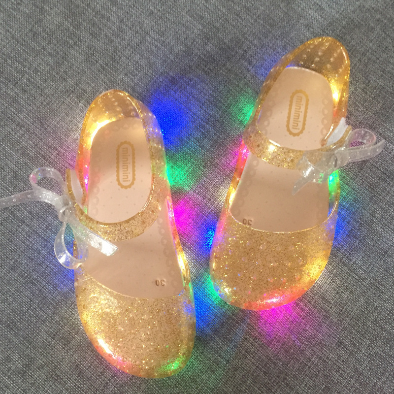 2017-new-LED-light-flashing-bow-buttress-cool-slippers-fish-head-mouth-head-jelly-girl-fragrant-princess-sandals-1