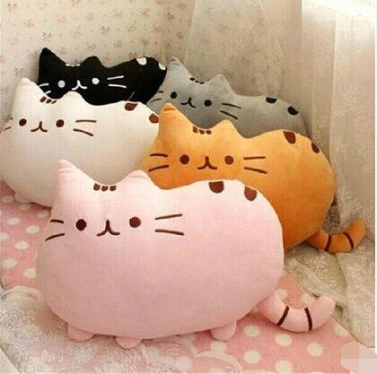 7 colors 40*30cm plush toy stuffed animal doll, anime toy pusheen cat pusheen skin girl kid kawaii,cute cushion brinquedos Kids
