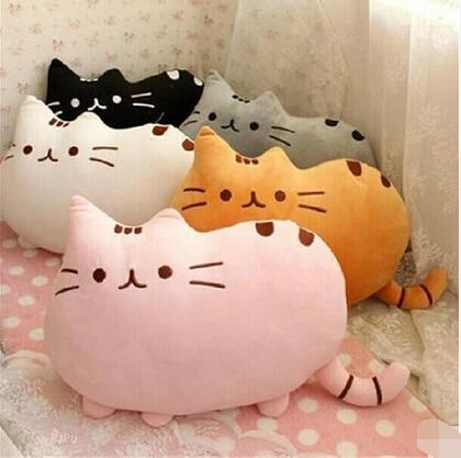 7 <font><b>colors</b></font> 40*30cm plush toy stuffed <font><b>animal</b></font> doll, anime toy pusheen cat pusheen skin girl kid kawaii,cute cushion brinquedos Kids
