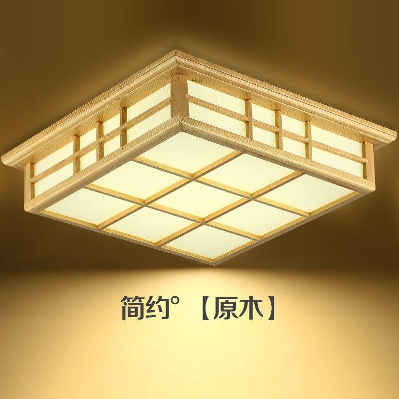 Japonais style Délicat Artisanat En Bois Cadre tatami led plafond lumières luminarias para sala gradation led plafond lampe