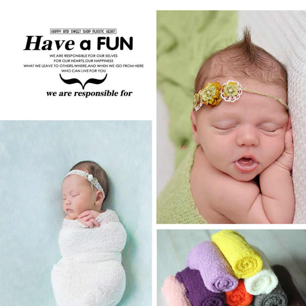 Новорожденных Подставки для фотографий в разноцветную полоску одеяла из искусственного волокна стрейч вязать Фото обертывания гамак пеленание Nubble обертывания фон для фотографирования малышей
