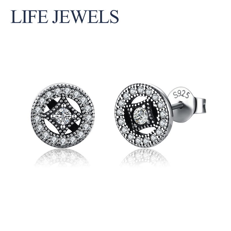 Authentic 100 925 Sterling Silver Austria Zircon Earrings l Women Luxury Sterling Silver Valentine 39 s Day Jewelry Gift 18124 in Earrings from Jewelry amp Accessories