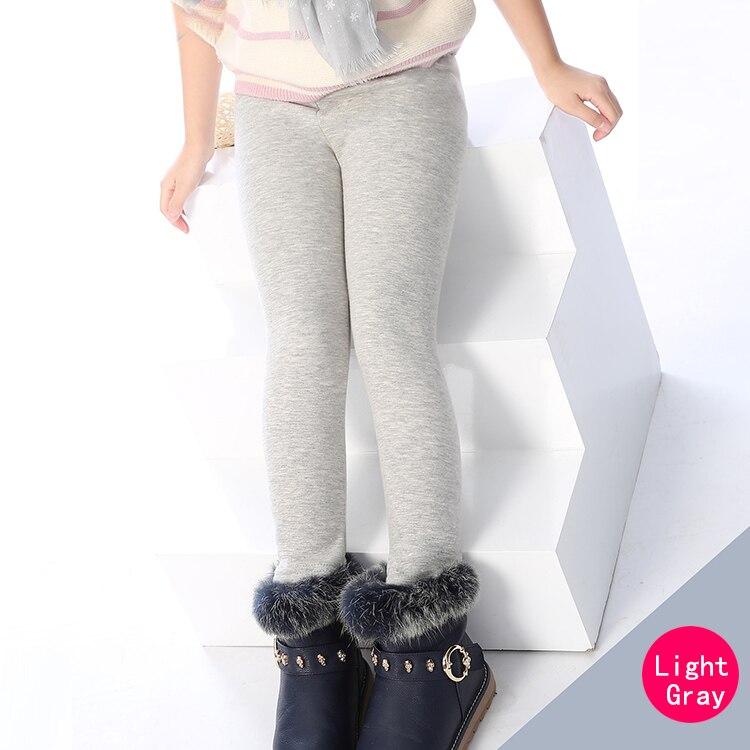 SheeCute/новые модные детские От 3 до 11 лет; сезон весна-осень-зима; теплые хлопковые брюки для девочек; детские брюки; леггинсы с принтом - Цвет: Purehuagray