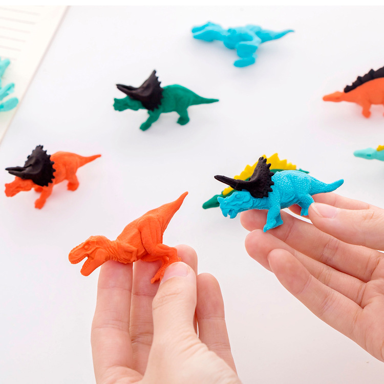 1 PCs Creative Cartoon Dinosaur Shape Eraser Student Rubber Stationery Wholesale Children's Prize