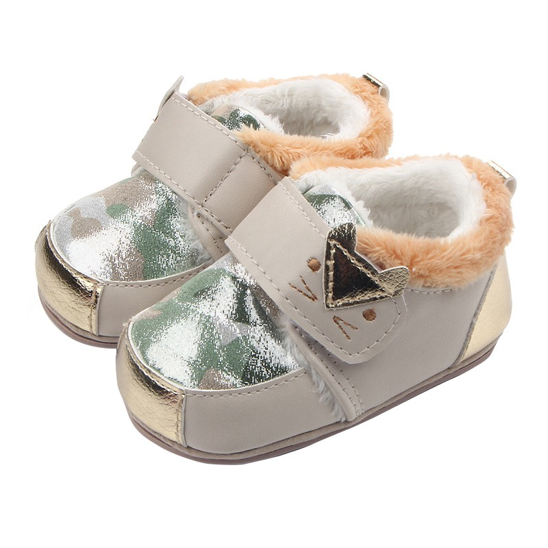 Infant Newborn Baby Girls Winter Faux Fleece First Walkers Sneakers Shoes Toddler Classic Casual Shoes