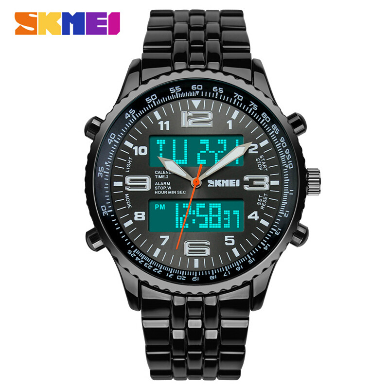 SKMEI Fashion Sports Watch Reloj Hombre Full Steel Watches Men Luxury Brand Clock Quartz Sport Watch Waterproof Men Wristwatch reloj hombre sports watch waterproof led digital male watches 2016 alarm calendar fashion casual quartz men sport wristwatch