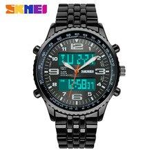 SKMEI Mode Sport Montre Reloj Hombre En Acier Plein Montres Hommes Marque De Luxe Horloge À Quartz Sport Montre Étanche Hommes Montre-Bracelet