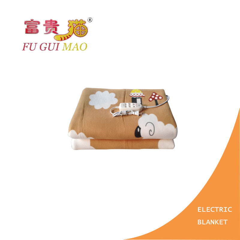 ФОТО FUGUIMAO Electric Blanket Double Electric Heated Blanket Plush Manta Electrica 220v Manta Electrica Double Control Switch Warmer