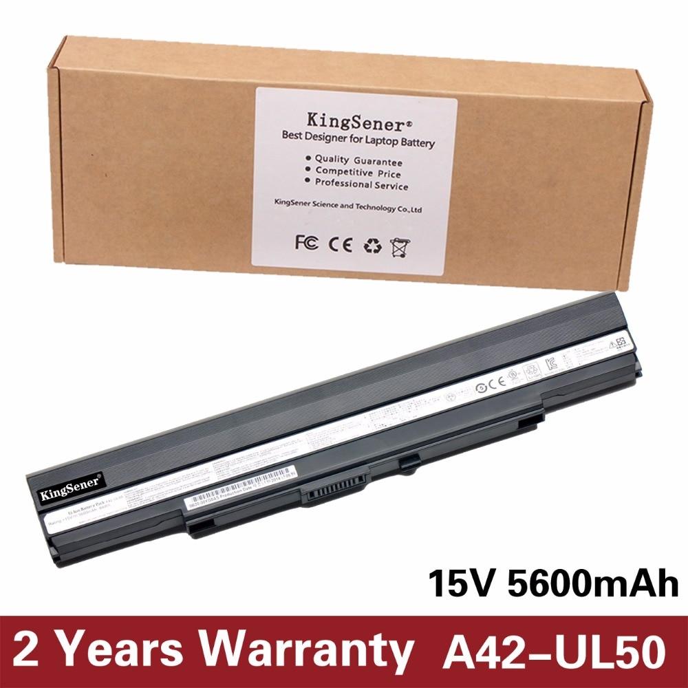 KingSener Korea Cell New A42-UL50 Laptop Battery for ASUS UL30 UL30A UL30AT UL50 UL50VS UL80 UL80A A42-UL30 A42-UL80 15V 5600mAh кабельная втулка litai pg63 42 52 ul
