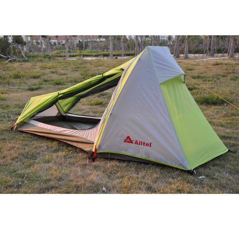 Alltel oryginalne ultralekki odkryty Camping alpinizm odkryty piesze wycieczki dwuwarstwowy pręt ze stopu Aluminium pojedynczy namiot