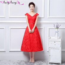 Women's Vintage Cap Sleeve Lace Short Wedding Dresses 2016 Red Flower Vestido De Noiva SSX148