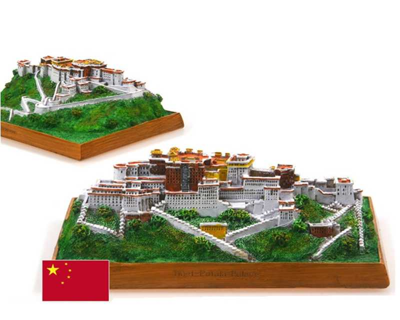 Hot Sale China Potala Palace Creative Resin Crafts World Famous Landmark Model Tourism Souvenir Gifts Collection Home Decor