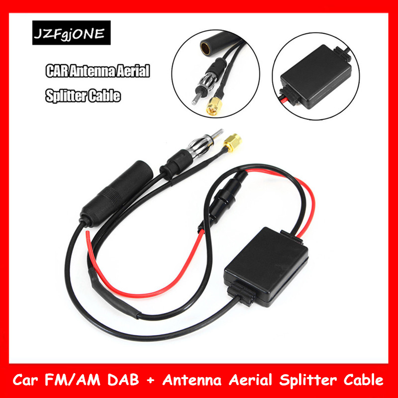 Universal Fakra Aerial Antenna DAB Splitter Adapter Cable SMB Car Digital Radio