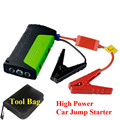 2017 Best Selling 9000mAh Portable 12V Car Jump Stater Mini Multi-Function 2USB Power Bank SOS Lights Safety Hammer Free Ship