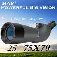 25 75X70 Porro BAK4 Prism Target Spotting Scope For Birdwatching HD Astronomical Telescope Waterproof Free Tripod