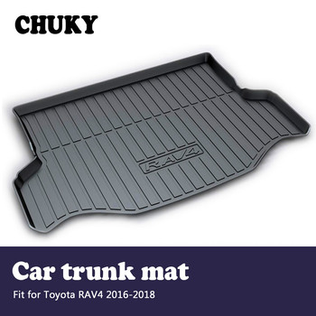 CHUKY For Toyota RAV4 2016 2017 2018 Car Cargo rear trunk mat Car-styling Boot Liner Tray Waterproof Anti-slip mat Accessories