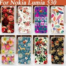 11 моделей красивые цветы сотовый телефон case для nokia lumia 530 задняя крышка Бесплатная Доставка