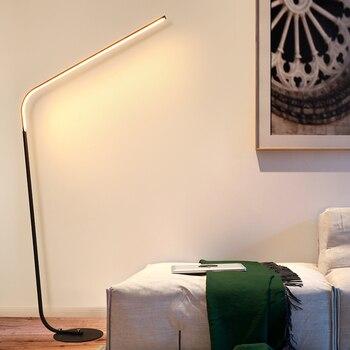 Black/White Postmodern LED floor lamp for living room standing lamp 24W Family Rooms Bedrooms & Offices Lighting AC110-220v
