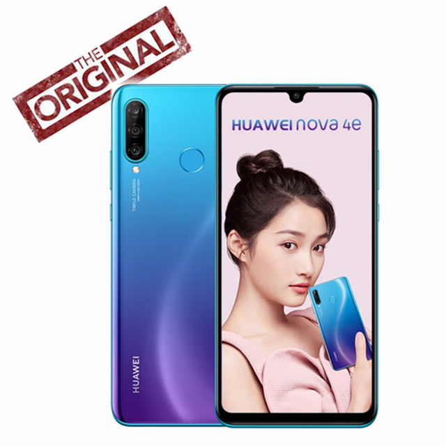 Original HUAWEI nova 4e Smartphone 6.15 inch Screen Kirin 710 Octa Core Mobile Phone Android 9.0 Dual SIM Card Slot 9V/2A Phone