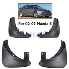 4 шт. OE стиле Брызговики для Mazda 6 седан 2002-2008 брызговики брызговик крыло брызговиков 2003 2004 2005 2006 2007