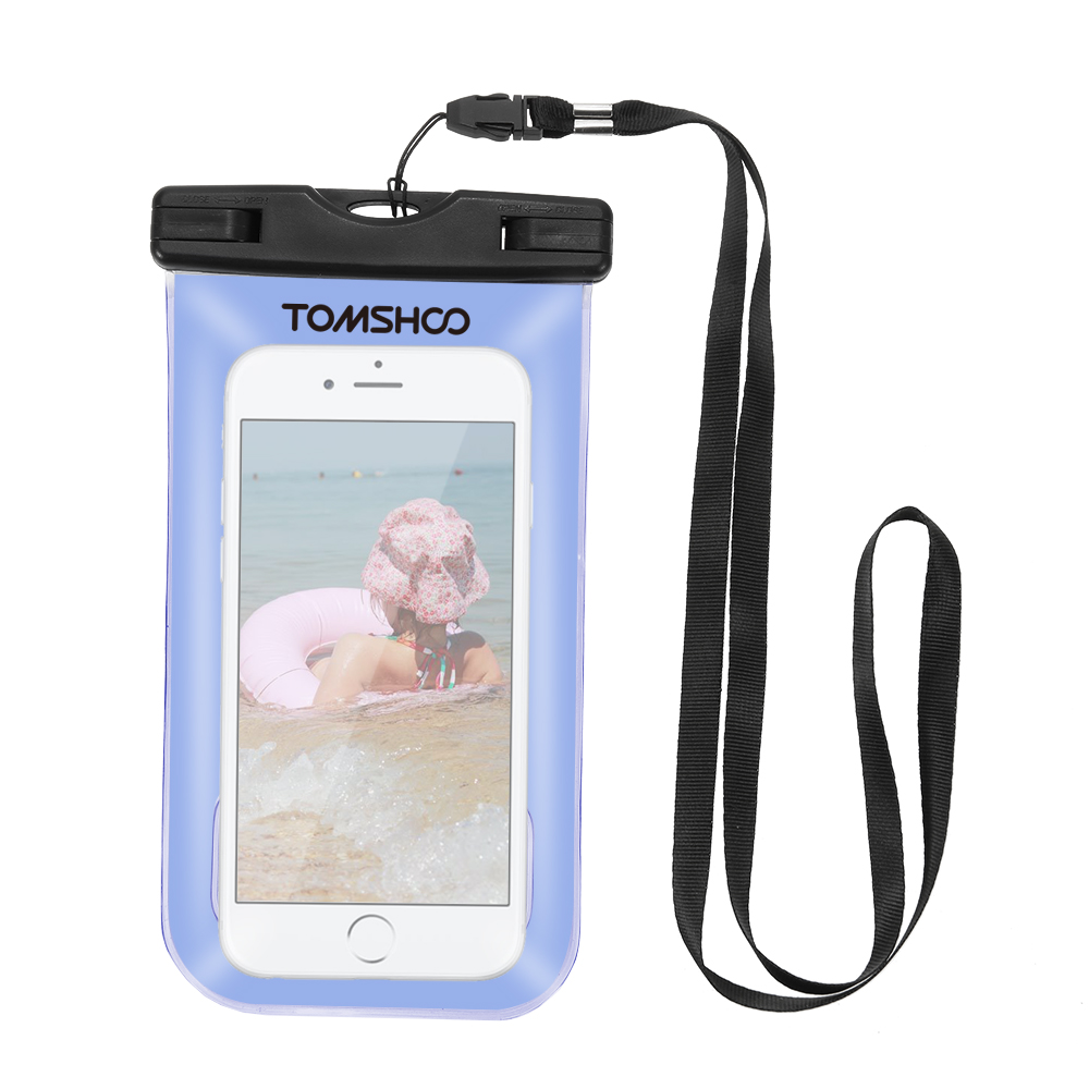 "Image 5 - TOMSHOO Waterproof Phone Case Dry Bag Outdoor Sports Pouch Transparent Touch Screen Cellphone Case for 6.0"" Devices-in Storage Bags from Home & Garden"