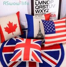 45*45CM Cartoon Cotton And Linen Pillow + Pillowcase Cushion Office Neck Pillows Car Cushion Lumbar Pillows Bed Pillow
