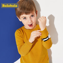 Balabala Toddler Boy Pullover Sweater Ribbed Knit Sweater with Fake Watch Applique at Cuff Children Kids Boy Winter Tops Clothes(China)