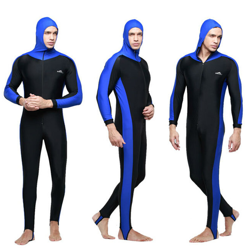 ФОТО NEW! Mens Scuba Diving One Piece Suit with Hood Surfing Snorkeling Spearfishing Long Sleeve Wet Suit UPF50 Swimwear Plus Size 4X